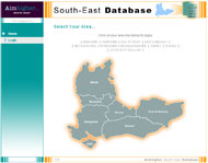 Aim Higher South-East Database - Screenshot